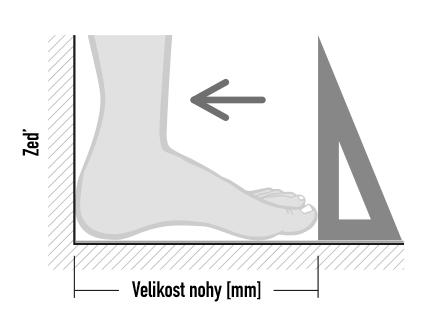 Jak správně změřit velikost nohy?
