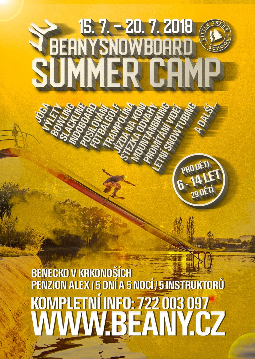 Beany Snowboard Summer Camp pro děti 2018